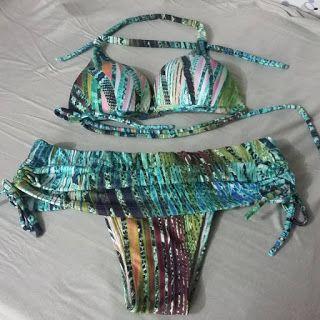 ac9aa103d MOLDE DE BIQUÍNI COM SAIA | CORTAR E COSTURAR | Bikinis, Swimwear e ...