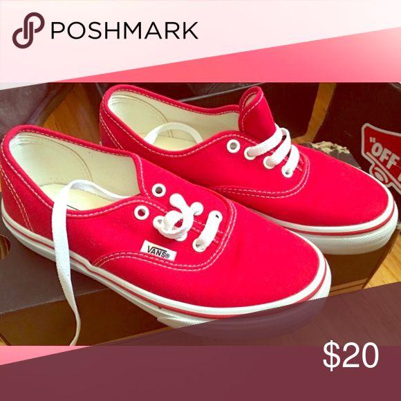 Vans Red vans Vans Shoes Sneakers
