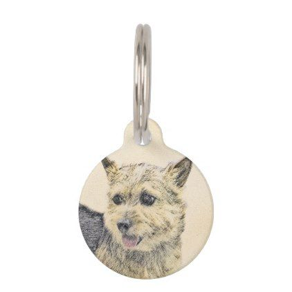 #Norwich Terrier Pet Name Tag - #pettag #pettags #dogtag #dogtags #puppy #dog #dogs #pet #pets #cute #doggie