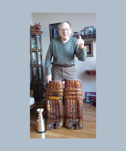 Johnny Bower gets his original Toronto Maple Leafs pads back!