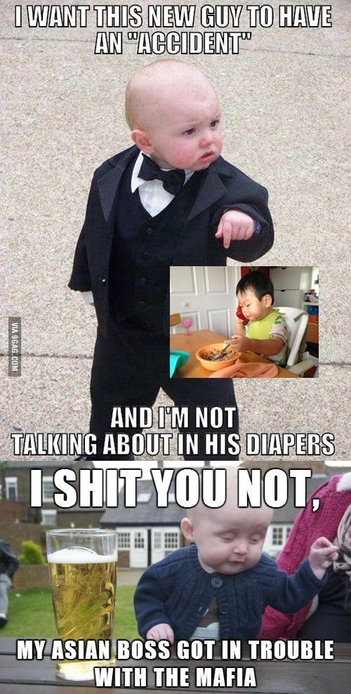Drunk Baby Meme does not want to get in between this.