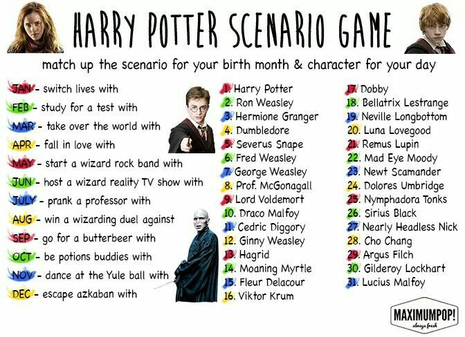 Escaping azkaban with Hermione granger <<< potion buddies with Fred weasley<<< Win a wizard's duel against Neville Longbottom. (It was almost against Bellatrix Lestrange!)
