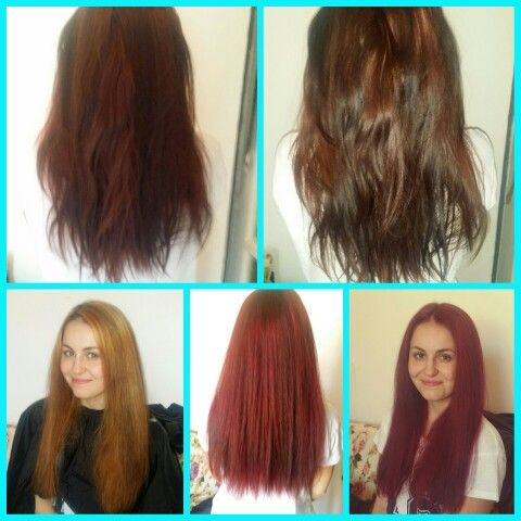 from dark REDBROWN to RIHANNA - MAN DOWN RED HAIR!