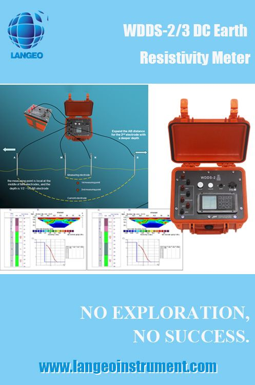 earth dc resistivity meter with function of electrical vertical sounding (ves)