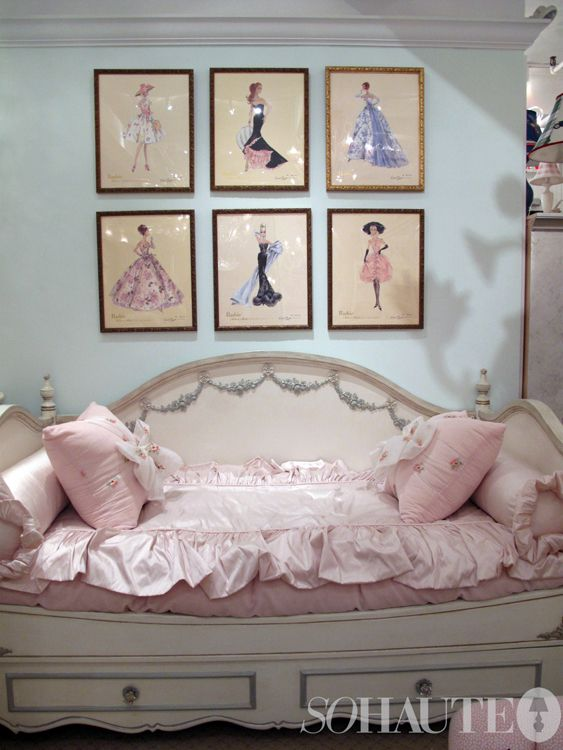 If I have a daughter, I am totally framing vintage barbie sketch drawings above her crib!