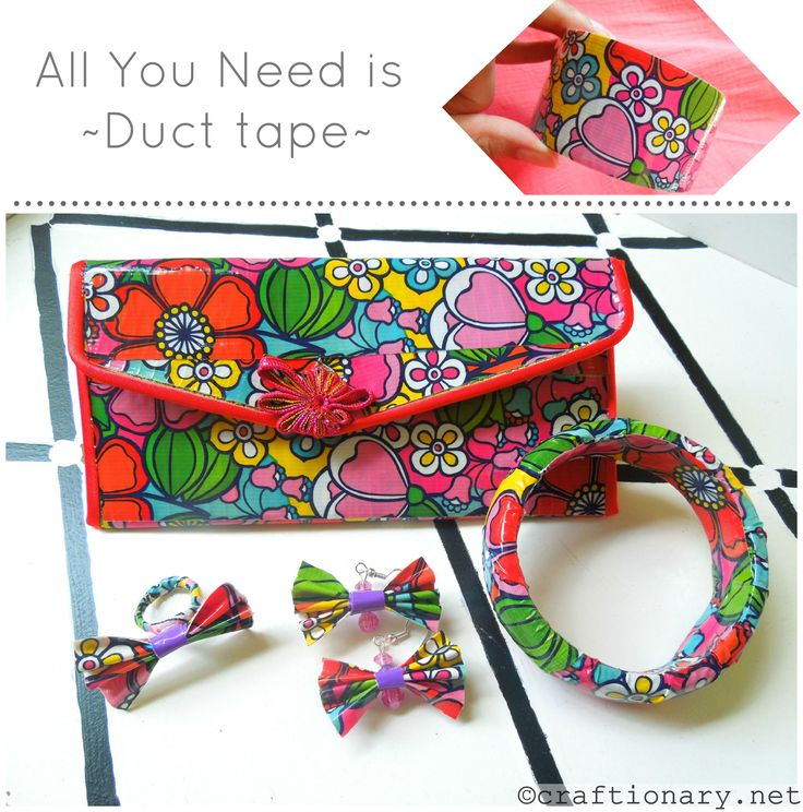 Beautiful accessories created with our wallflower Duck Tape