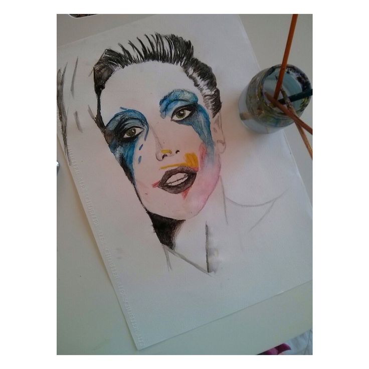 Lady gaga water color
