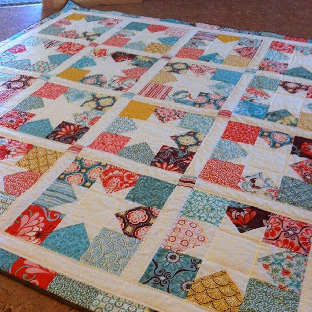 Love this pattern. Charm square stars