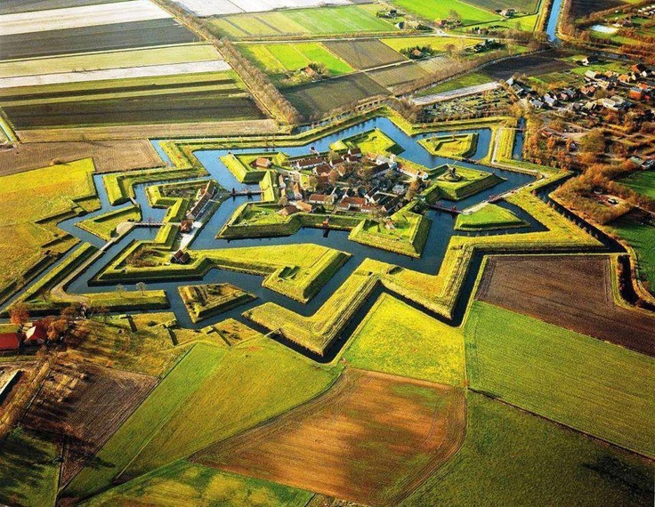 Star Fort in the Netherlands, built during the 80 year war.