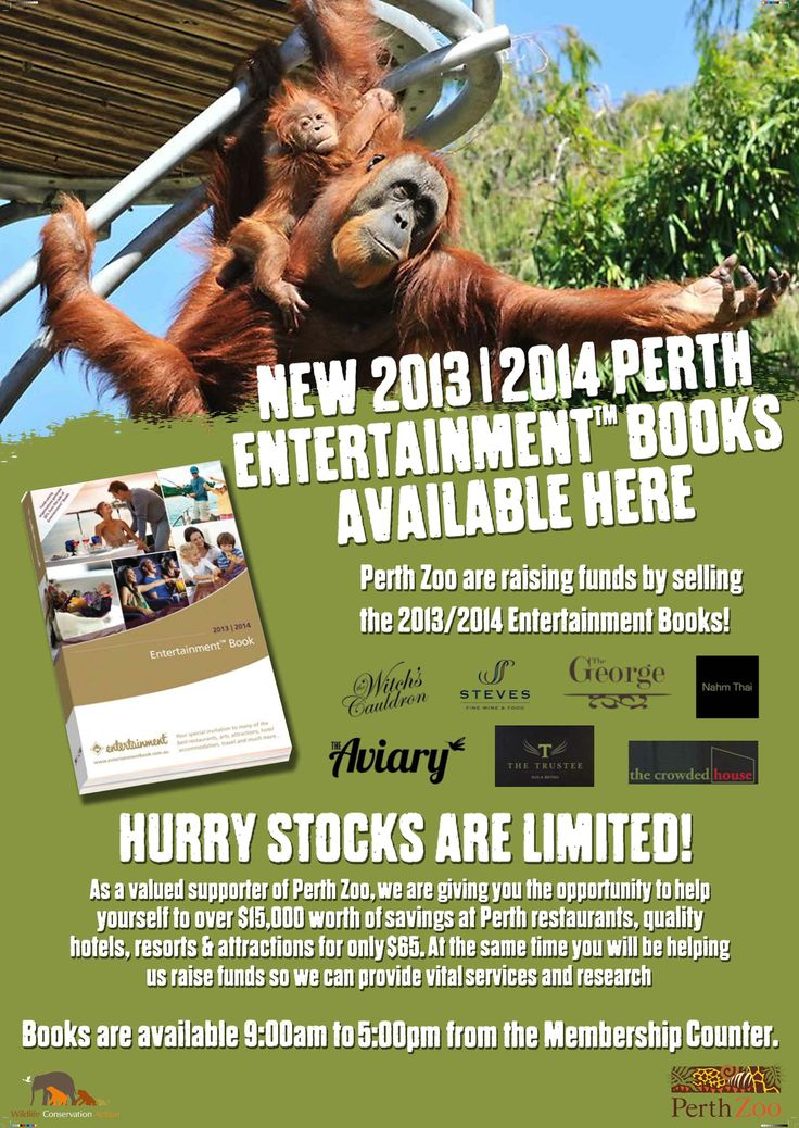 Perth Zoo - Entertainment Book Poster LR