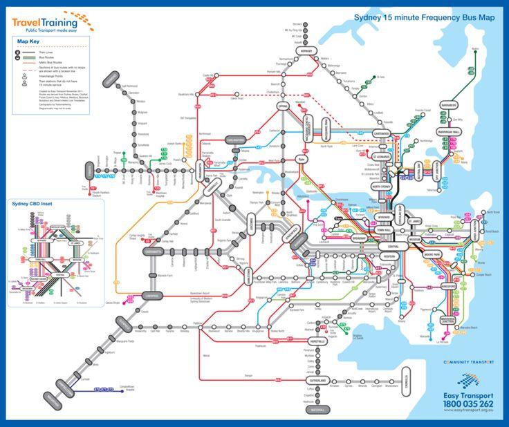 sydney public transport map #Sydney