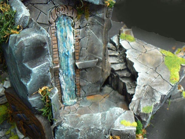 Dwarven Fortress Tower Removed To Reveal Interior
