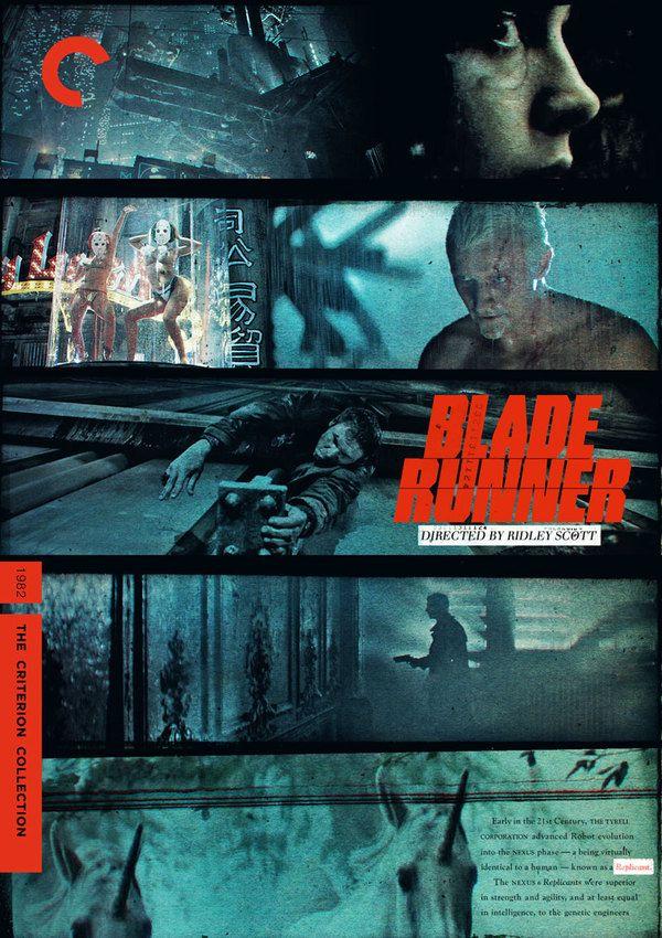 """RIDLEY SCOTT'S """"BLADE RUNNER""""  FILM POSTER / CRITERION COVER SERIES"""