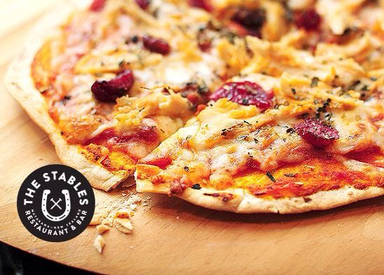 1/2 price pizza & burgers every Wednesday!