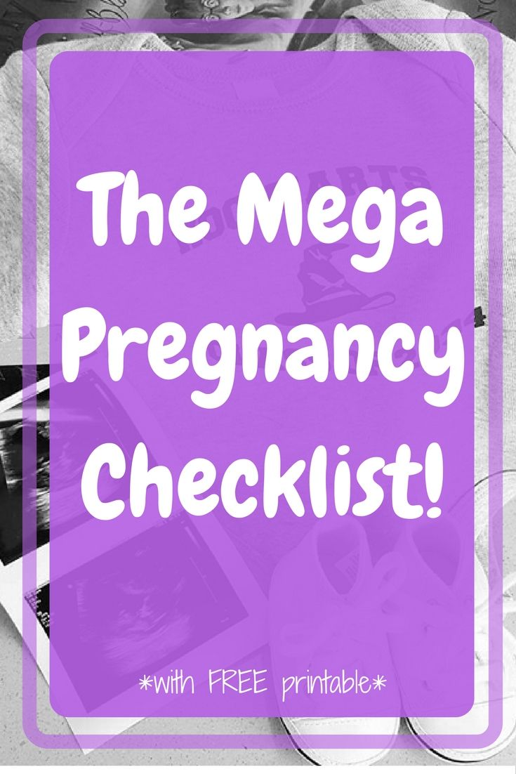 Here is the Mega Pregnancy Checklist - Week by Week. Make sure to get your free printable checklist!