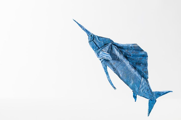 Fish origami artwork. Stunning origami design for all events & corporate window display. -Plico Design