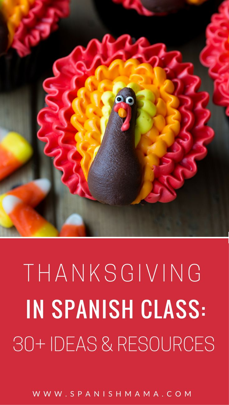 Thanksgiving in Spanish: Your Mega-Collection of Classroom Ideas. Find printables, videos, songs, and activities for celebrating Día de acción de gracias in Spanish class, for all ages.