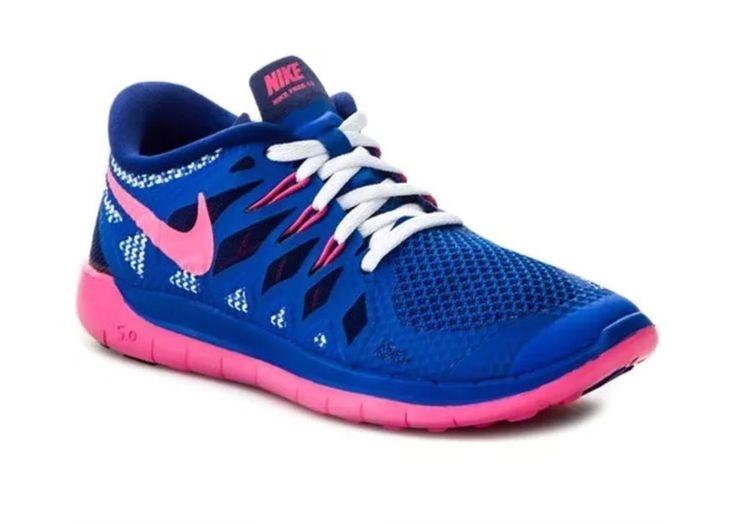 Nike Free 5.0 GS Blue Pink Trainers Womens girls sizes UK3 UK3.5 UK4 New Boxed