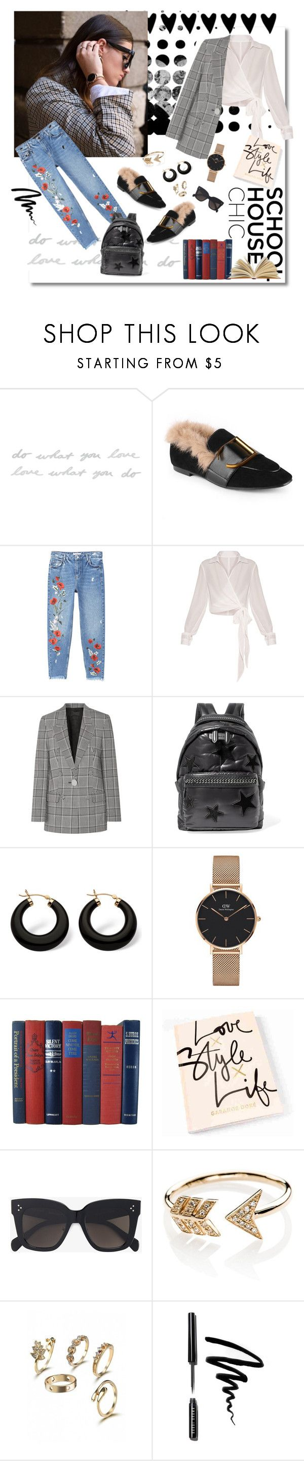 """Style"" by ladylly ❤ liked on Polyvore featuring Umbra, MANGO, Alexander Wang, STELLA McCARTNEY, Palm Beach Jewelry, Daniel Wellington, CÉLINE, EF Collection, Bobbi Brown Cosmetics and school"