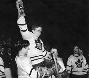 Bill Barilko's famous goal won the Leafs the Cup in 1951. (Start singing 50 mission cap by the Hip) .