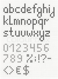 modern cross stitch fonts - Google Search