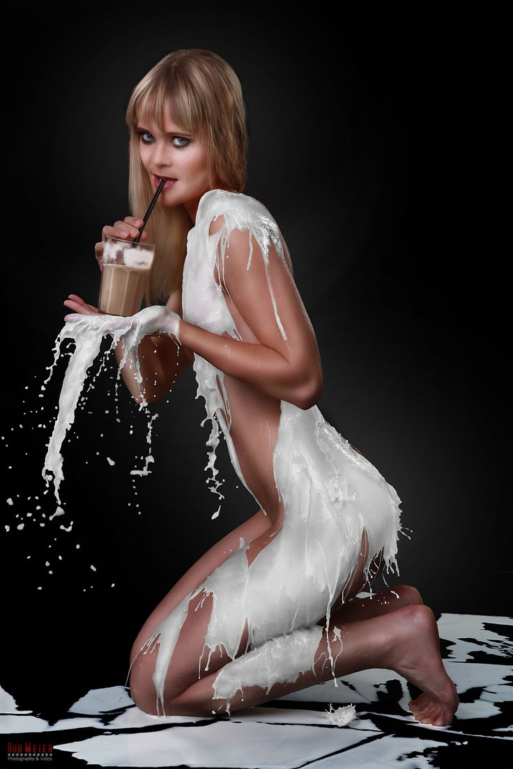 Milchkleid / Milk Dress Fotoshooting - Latte Macchiato und
