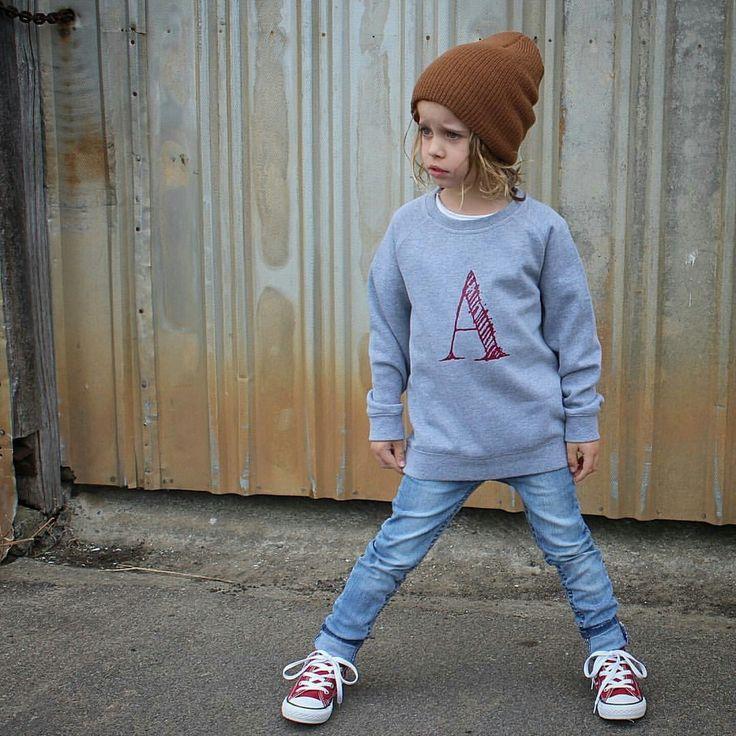 Shaded - KIDS CREW - boozeek custom initials jumper kids fashion AW16 #graphictee #slogantee