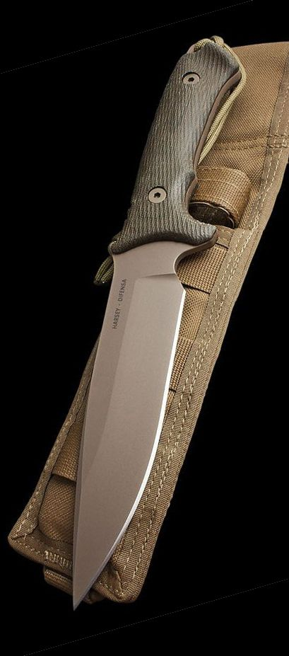 Spartan Blades Spartan Harsey Difensa Fixed Blade Fighting Knife Kydex Sheath