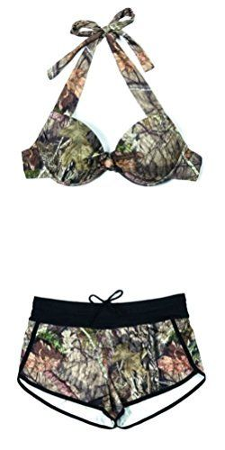 #womensfashion Womens Camo Mossy Oak Breakup Country Bikini Halter Top or Camo Swim Shorts: Currently you are looking at… #womensclothing