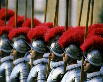 In 1529, the 189 members of the Swiss Guard stood against 20,000 mercenaries to buy the Pope time to escape