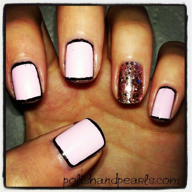 How To: Border Nail Manicure-- also other amazing tutorials. great blog