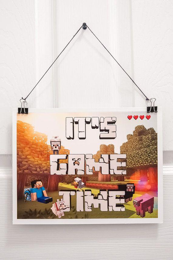 It s Game Time   Do Not Disturb TNT   Creeper Minecraft Bedroom Door Signs    Wall Art for x 11 set of 3. 13 best Minecraft Bedroom images on Pinterest   Minecraft stuff