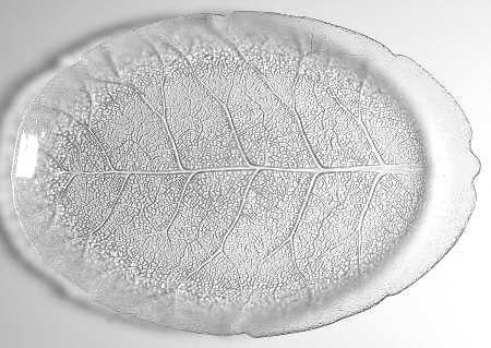 Arcoroc+Aspen+Oval+Platter+++Clear,+Leaf+Shape