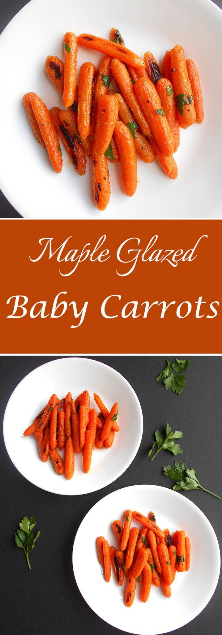 This is a simple recipe for Glazed baby carrots can be made under 30 minutes. It is the perfect side dish to any meal. Vegan Thanksgiving recipe or Vegetarian Thanksgiving Recipe