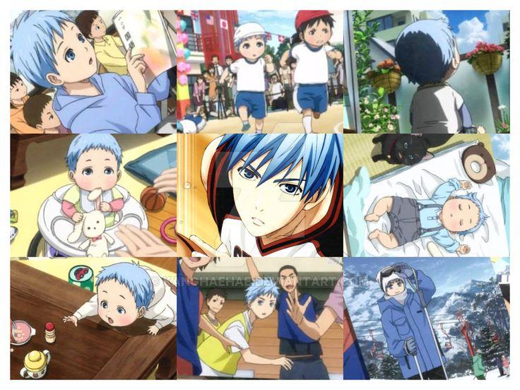 Kuroko's childhood photo collage from ending of Kuroko no basket Season 3 episode 51! {。^◕‿◕^。}