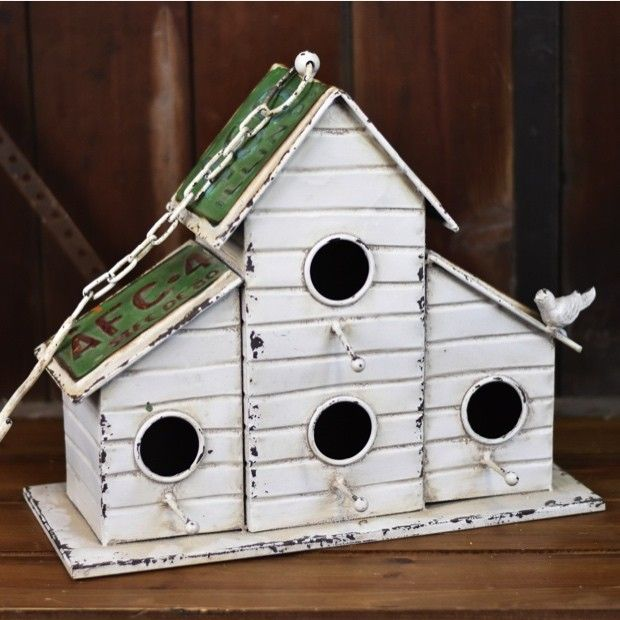 Four Hole Cabin Birdhouse