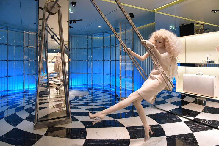 """PRADA, Paris, France, """"The Perfect Swing"""", The Iconoclasts, pinned by Ton van der Veer"""