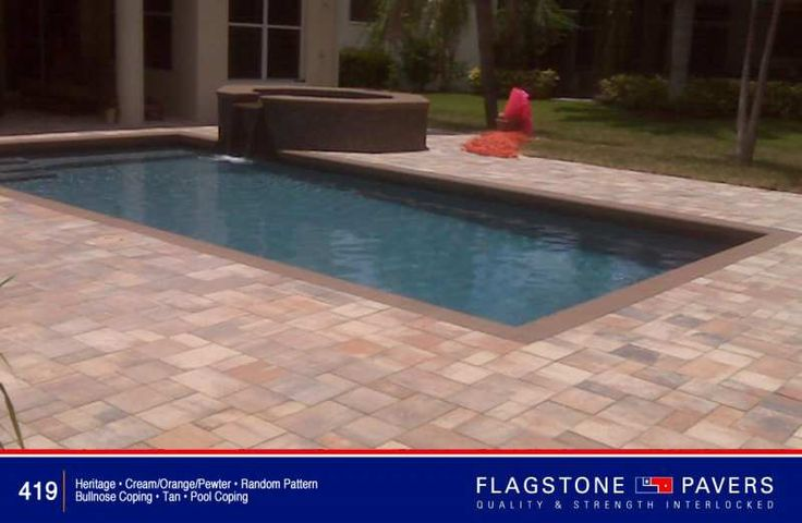 21 best pavers travertine brick paver images on pinterest Flagstone pavers around pool
