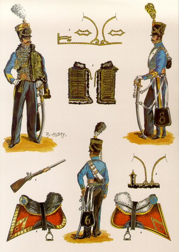 Les 6e et 8e Regiments de hussards belgo-Hollandais Les planches…