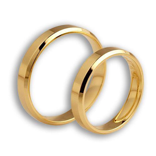 Obrączki ślubne z żółtego złota. Próba 0,585