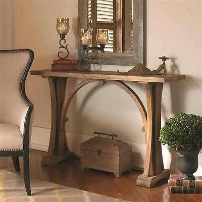 FIR WOOD CONSOLE TABLE RUSTIC TUSCAN SOUTHWESTERN CABIN