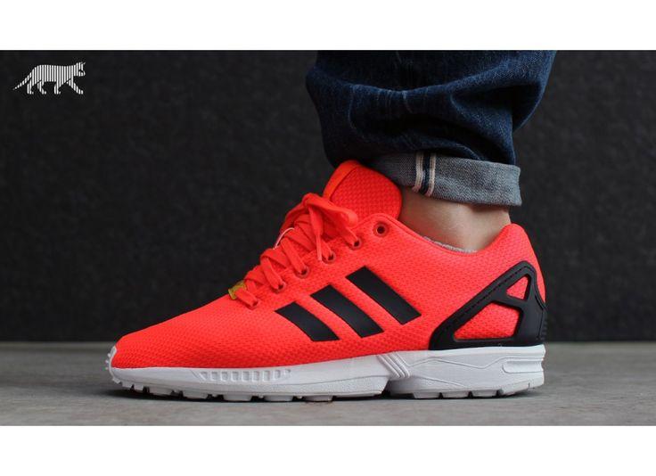Adidas ZX Flux Orange Red Neon
