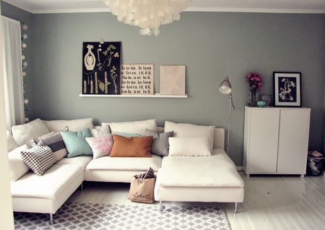 Bought Ikeas White Armless Soderhamn Sofa Chaise And Will Be Adorning It With Various Comfy Light Grey Patterned Pillows