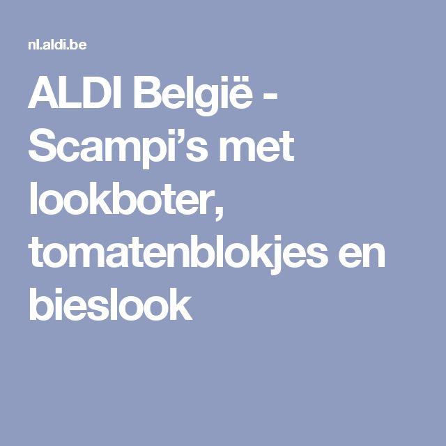 ALDI België - Scampi's met lookboter, tomatenblokjes en bieslook