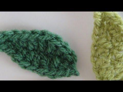 Φυλλαράκια πλεκτά με βελονάκι, πανεύκολα!! - YouTube