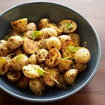 Roasted Baby Potatoes with Oregano and Lemon: = 2/3 tsp. olive oil per serving of 1/6 recipe. (For SFT count oil ONLY if you use > 2 tsp healthy oil per day.)