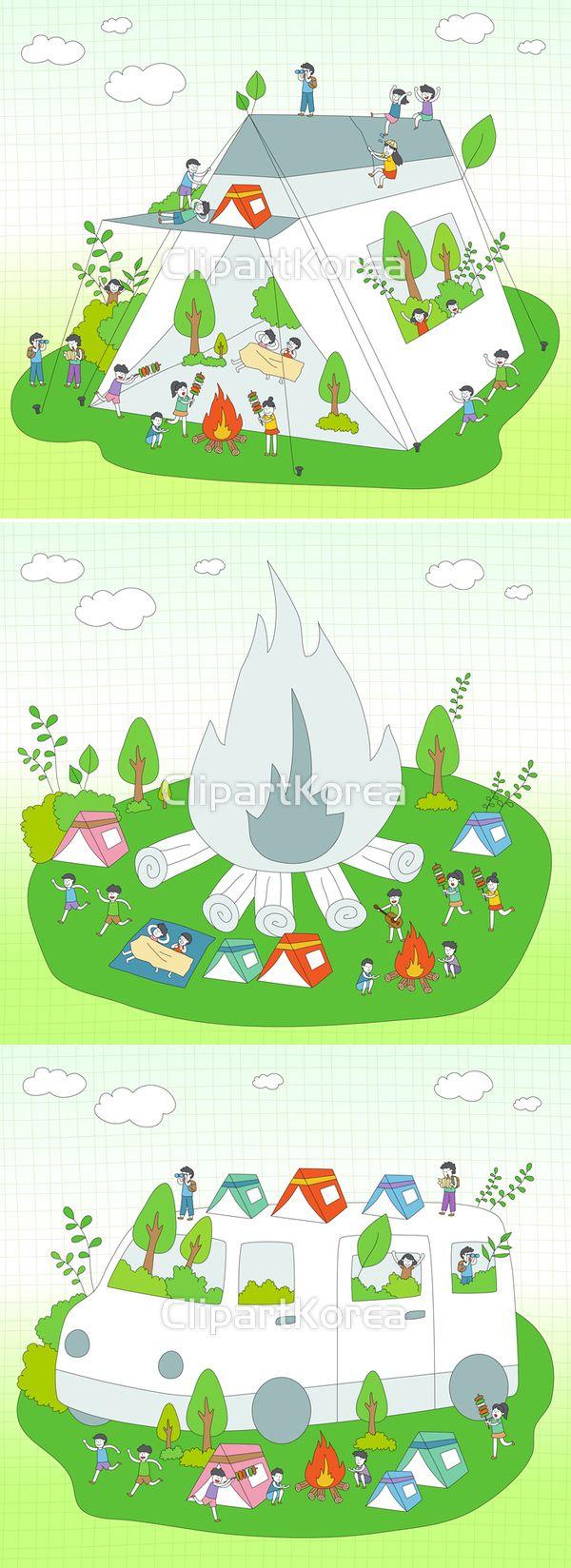 클립아트코리아 이미지투데이 통로이미지clipartkorea imagetoday tongroimages 구름 나무 일러스트 장작불 캠핑 자동차 캠핑카 텐트 그래픽 디자인 레져 휴가 바비큐 tent camping car cloud wood fire illustration illust graphic design leisure vacation barbecue