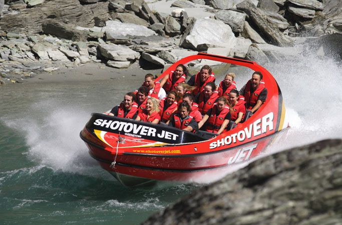 Shotover jet, Queenstown, NZ