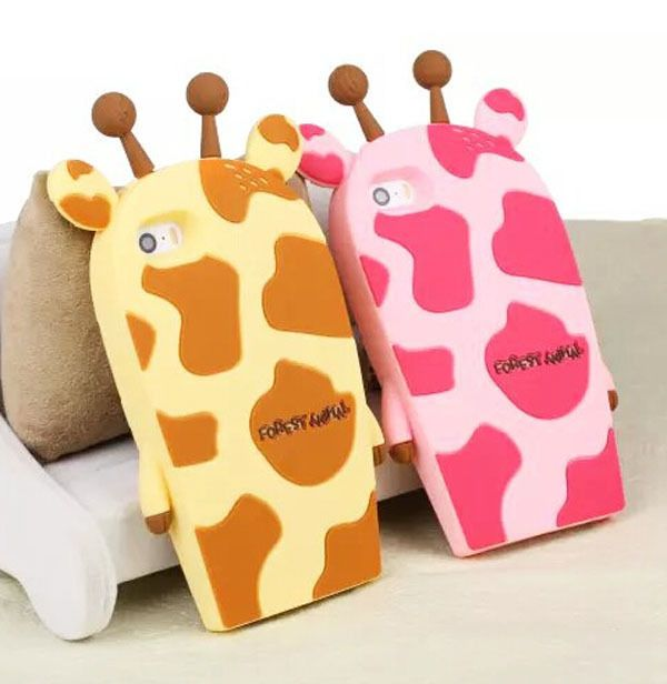 Cute Cartoon 3D Animal Giraffe Soft Silicone Cover For Iphone 4 5 5S 6/Plus Case in Cases, Covers & Skins | eBay