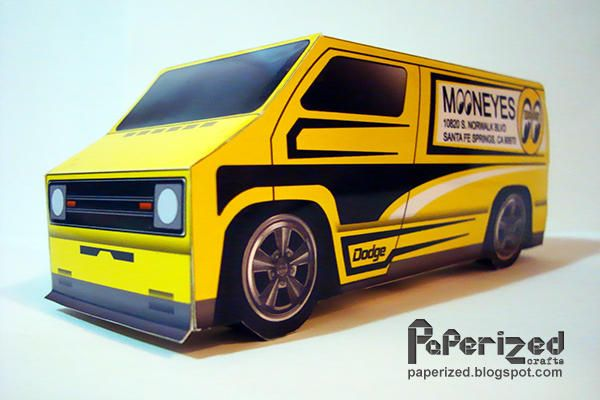 Mooneyes 77 Custom Dodge Van Free Vehicle Paper Model Download - http://www.papercraftsquare.com/mooneyes-77-custom-dodge-van-free-vehicle-paper-model-download.html#164, #Dodge, #Van, #VehiclePaperModel